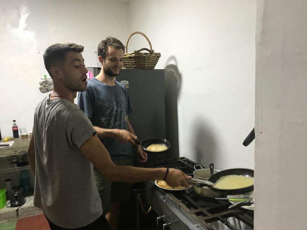 Atelier crêpes à Medellin en helpx