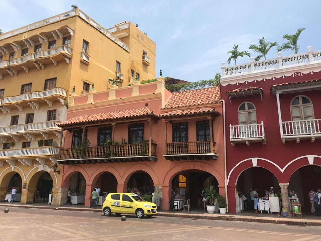 Place du centre historique de Carthagène